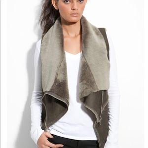 Jackets & Blazers - Kenna-T Drape Shearling Vest